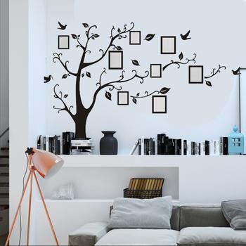 custom die cut wall sticker removable living room family tree pvc