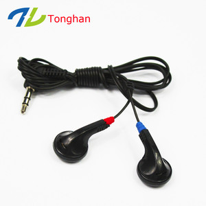 Disposable Bus Earphone Free Sample Earphones For Tours Travel Agency