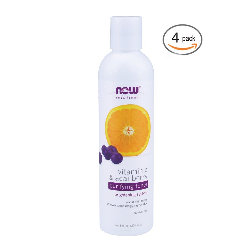 Now Foods Vitamin C & Acai Berry Purifying Toner - 8 fl. oz. 4 Pack