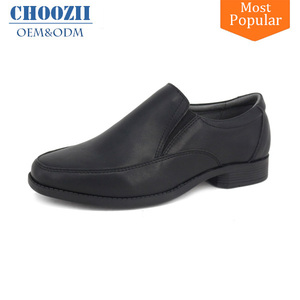 Manufacturer Wholesale Point Toe Stylish Black Leather Boys Dress Shoes