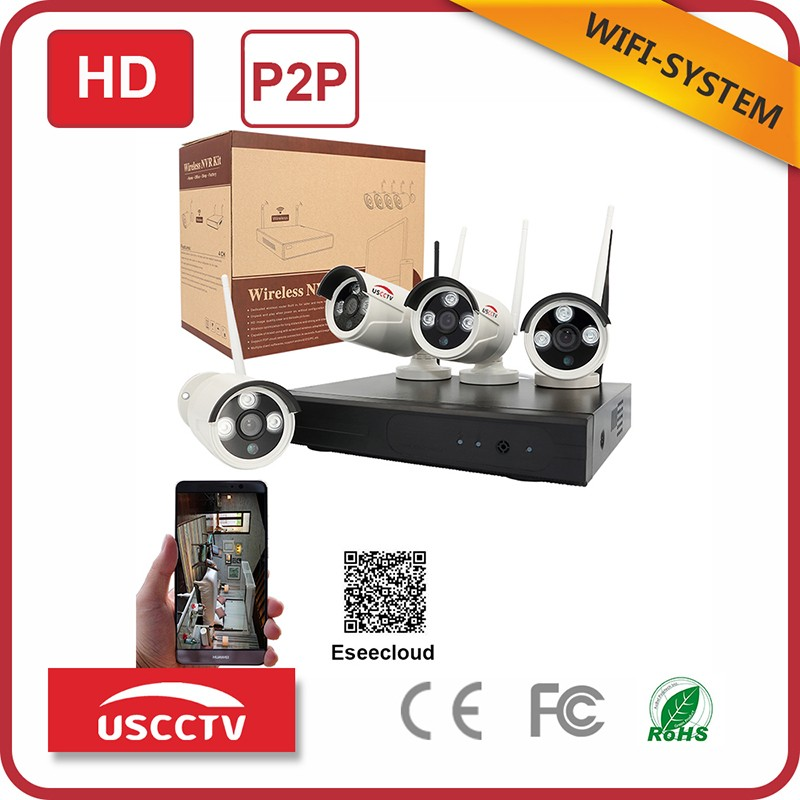 usc HD waterproof cctv p2p 4ch nvr WIFI NVR KIT 8channel WI-FI Camera