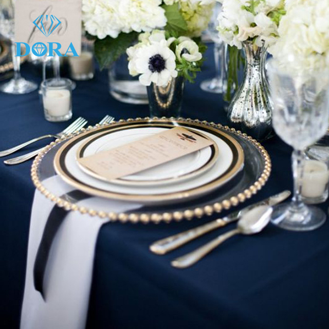 HOT SALE!!!wedding charger plates bead charger plates