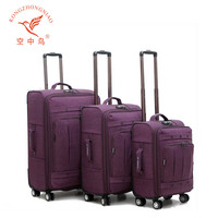 KZN D13 Lightweight nylon luggage bag fashion style top quality luggage unique travel polo trolley luggage
