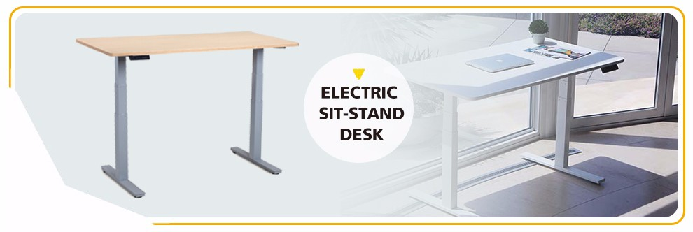 Electric Height Rising Adjustable Steel Table Lift Base Leg For Sit ...