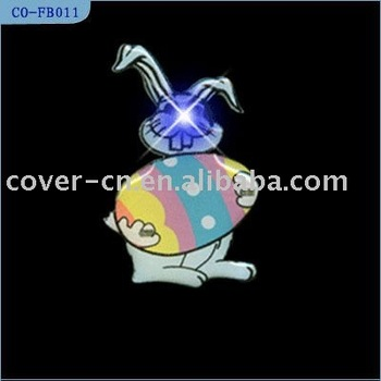 LED Flashing Badges Emblems for Easter Gifts and Promotion