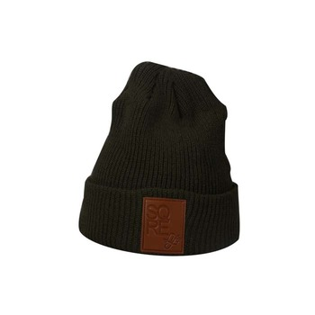 Your own brand logo beanies winter knit hat custom leather patch beanies b845fd06e74