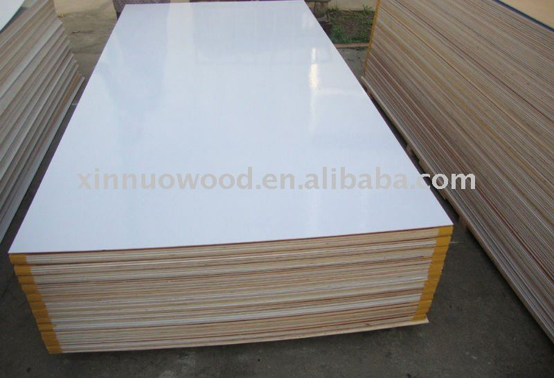 White Poly Plywood Pvc Coated Plywood Poly Coated Plywood