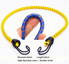 Wholesale 8mm high temperature resistant elastic rubber bungee cords with double hooks