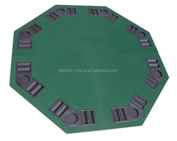 Poker Table Top 48u0026quot; Green Octagon 8 Player Four Fold Folding And  Carrying Case