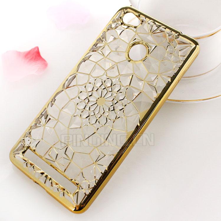 أحدث تصميم الأزياء الماس عباد الشمس كريستال طلاء tpu حالة ل تكنو w5 ، لينة  حالة