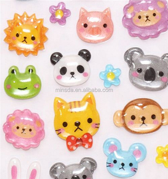 Kids Cute 3D Cartoon Stickers Kids Handwork Stickers 3D