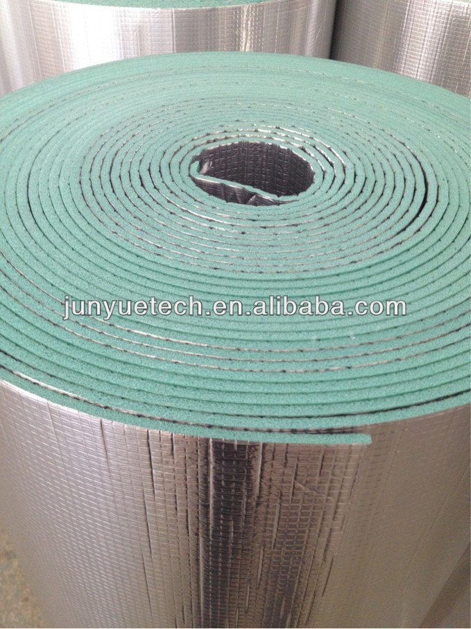 black rubber foam insulation tubes Laminated PE-film Alu foam insulation material with CE certificate