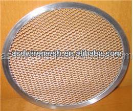 6'' stainless steel pizza screen(factory)