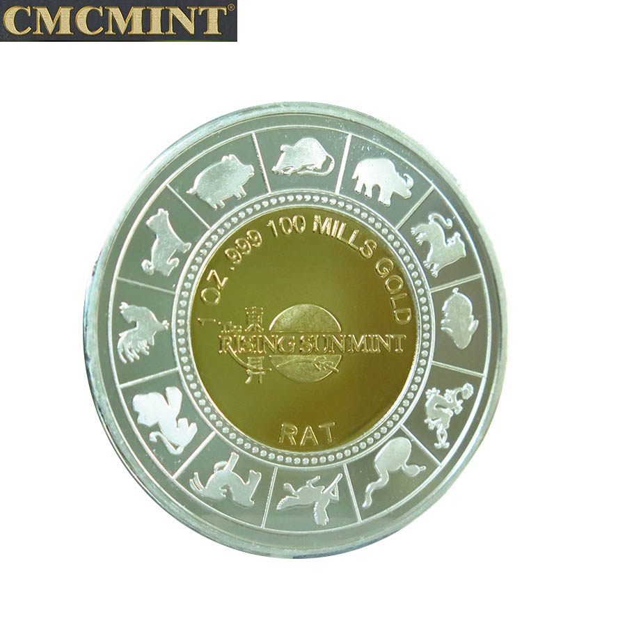 Chinese silver coin 1 oz Year of the Rat Round with best price for wholesale