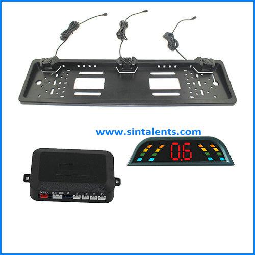 LED Display 4 Parking Sensor Reverse Backup Radar