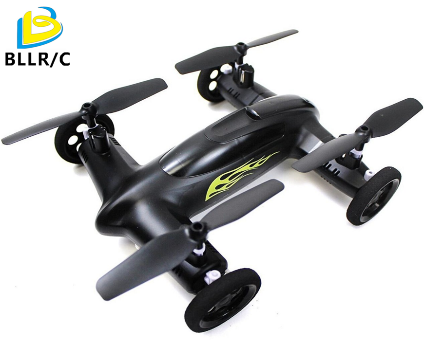 Syma X9 Fly Car 4 Channel 2.4Ghz RC Quadcopter dengan 360 Gelar Flips Fungsi Drone - Hitam