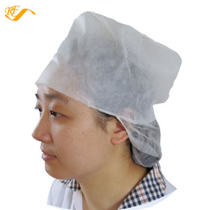 8dbc9426c63 disposable pp non-woven painter caps women work caps with snood without peak