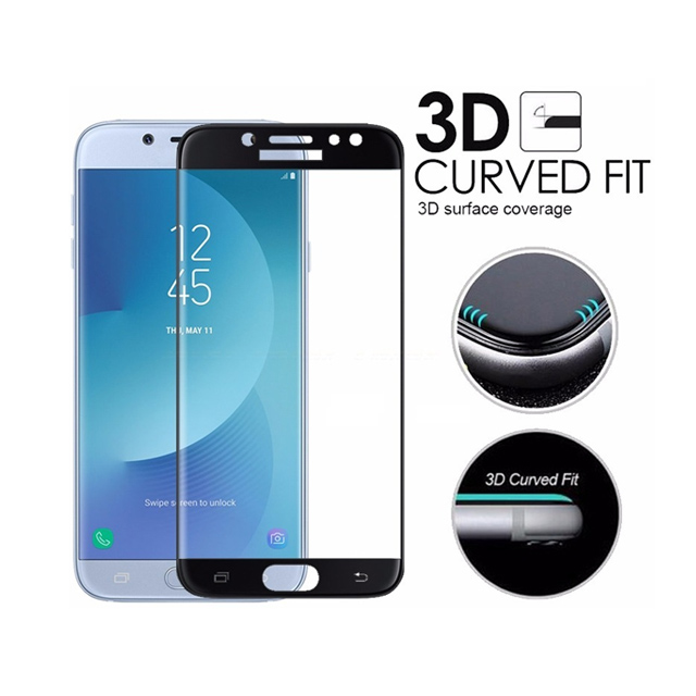 2018 Screen Protector For Samsung Galaxy J7 Prime 3D Curved Edge Tempered Glass