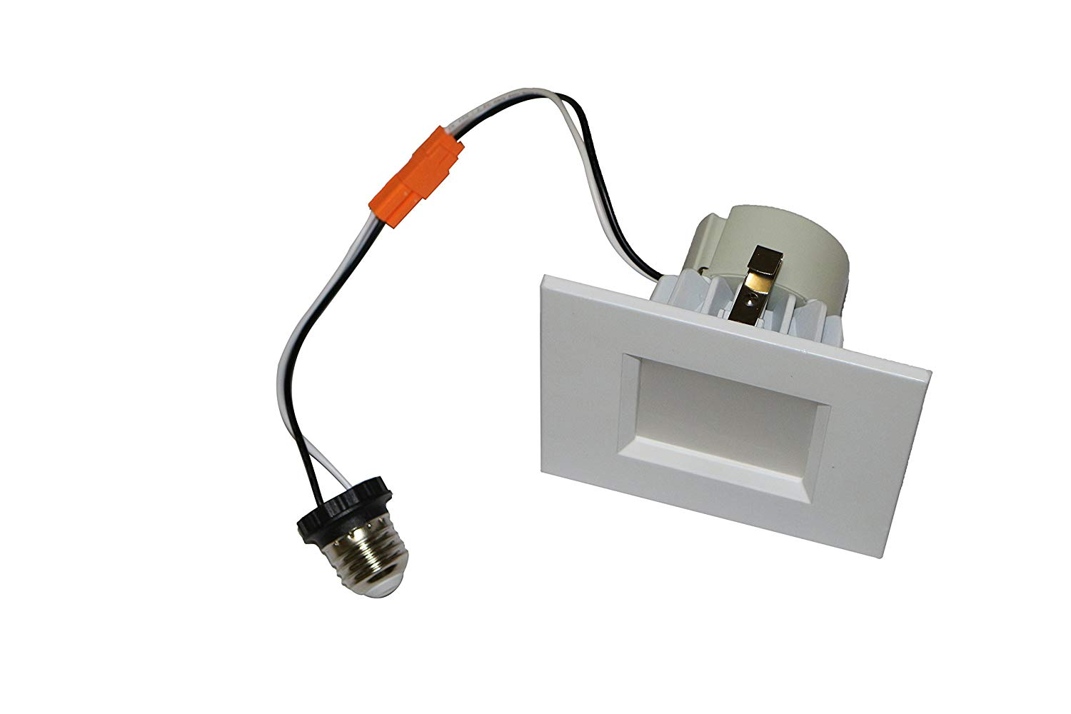 Goodlite G-19785 12w 4 inch Square LED Downlight, 3000k Warm White 75W Equivalent, Dimmable, 900 Lumens, CRI90, UL Listed, E26 Base, White-3000k