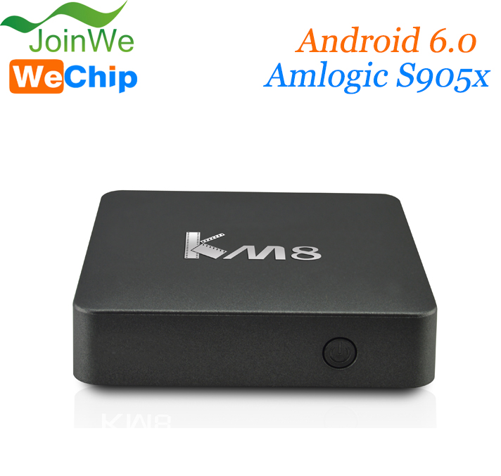 Factory direct sale Amlogic S905X octa core 2GB RAM Android 6.0 KM8 4k ott tv box