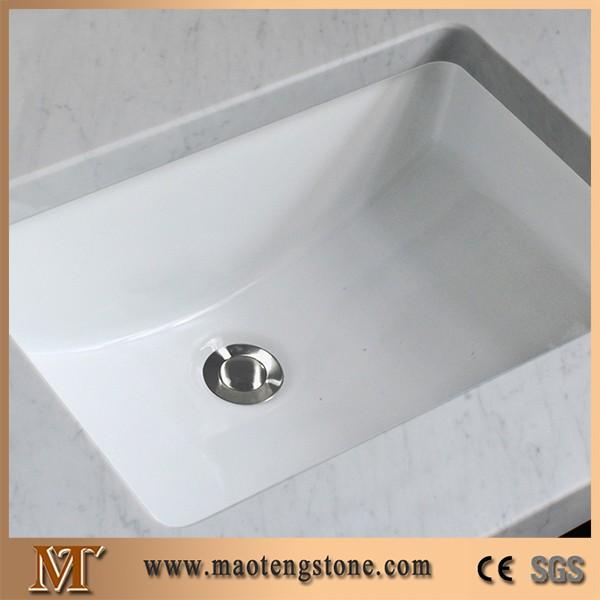 mrmol blanco tapa de la vanidad bao bajo mesada fregaderos de cermica lavabo