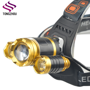 Super Bright Waterproof 4 Modes 3 CREE XM-L T6 Zoomable Headlight