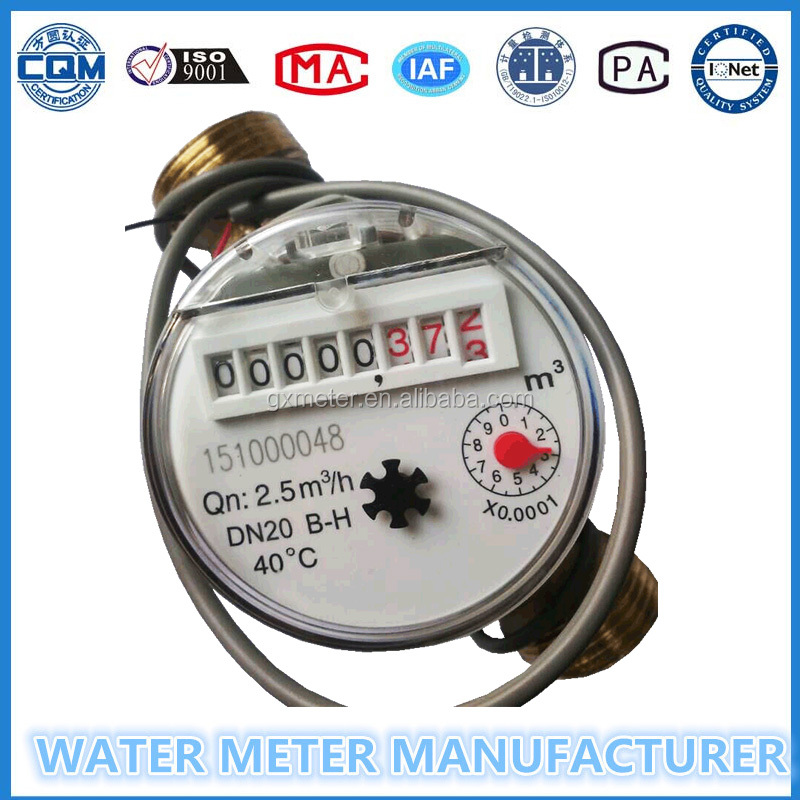 8 Digits counters singe jet pulse output water meter with 10L/Pulse Or 100L/Pulse for option