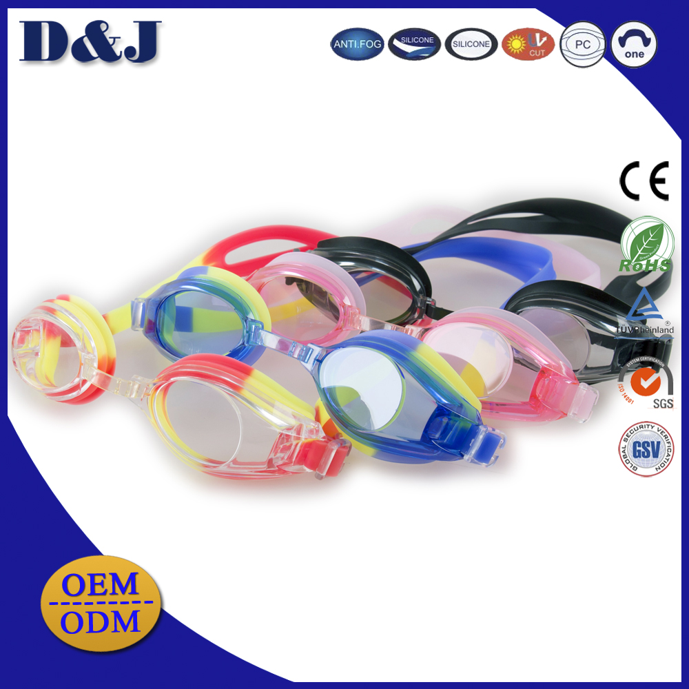 Famous Brand ODM Manufacturer Prescription Funny Anti fog Kids Swimming Goggles For Swimming
