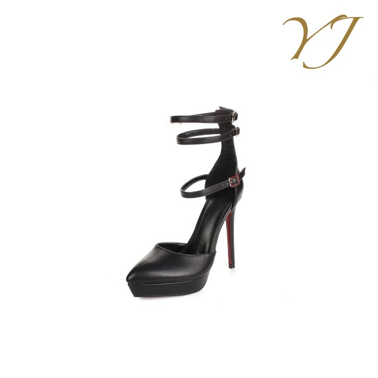 women and top cow shoes high super heels Popular sexy leather fashion OwqHwCz4