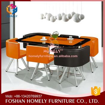Modern coffee shop dining table glass fixing for restaurant