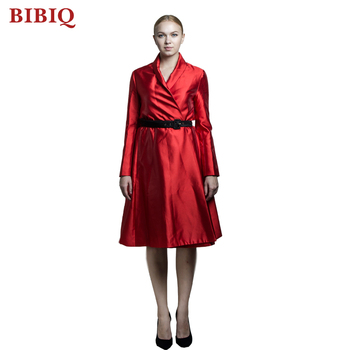 2018 Latest Ladies Long Sleeve Office Formal Dress Women Casual Maxi
