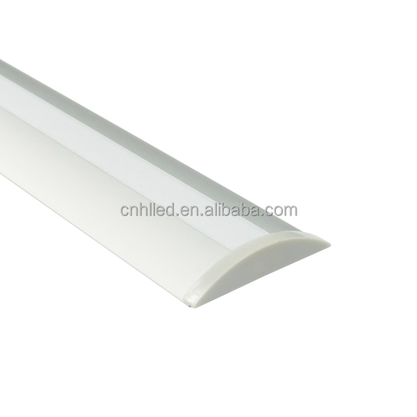 Decorative led 0.6 mm aluminum extrusion profiles for led strip with pmma cover