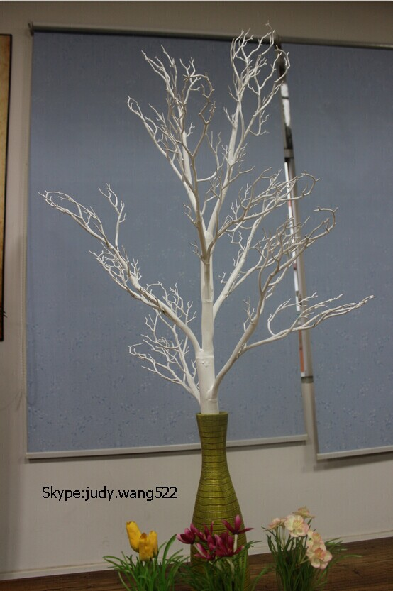 Wholesale white 4 feet dry tree for wedding centerpiece table decorative  dry tree branches