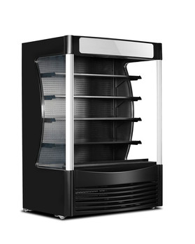 Supermarket Air Curtain Cabinet Refrigerated Cabinet Drinks Display Cooler