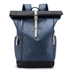 New Waterproof Multifunctional College Student School Bag Opening with Buckle Clasp Fashion Soft PU Leather Laptop Bags Backpack