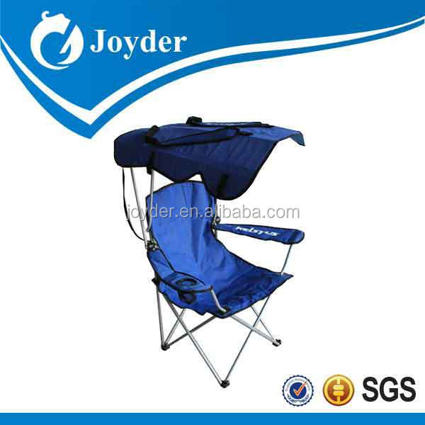 traveling picnic furniture lightweight reclining folding outdoor beach chair with sun shade
