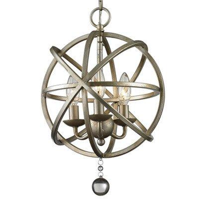 Get Quotations Vintage Pewter Retro Pendant Light Litfad 12 Edison Metal Globe Shade Hanging Ceiling