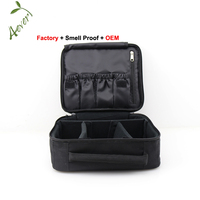 Waterproof Polyester EVA Travel Cosmetic Case Makeup Storage Bag Organizer