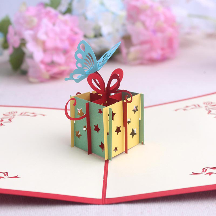 Diy Factory Wholesale Creative Blank Recordable 3D Handmade Happy Birthday Card Custom Greeting Card Printing