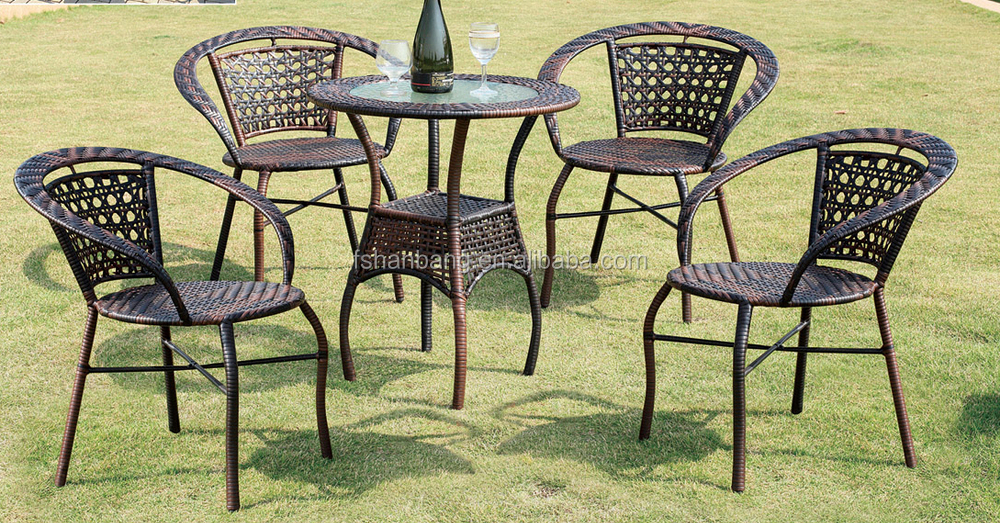 outdoor garden furniture terrace cafe table and chairs