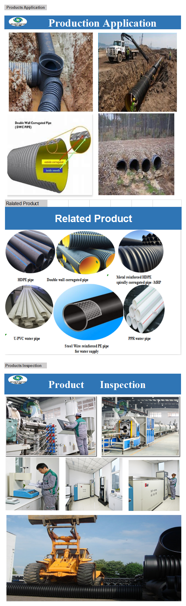 Hdpe Culvert Pipe Hdpe Double Wall Corrugated Plastic Pipe