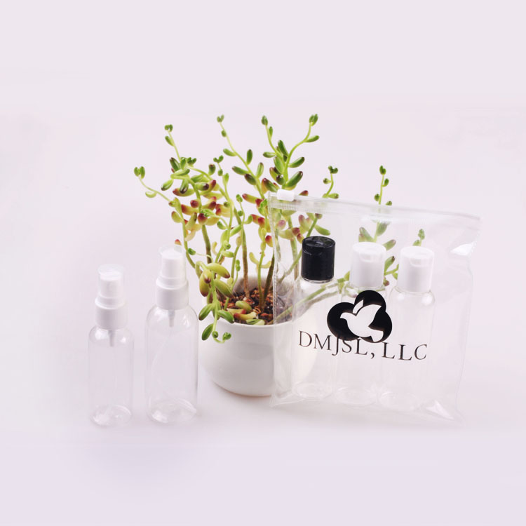 OEMPROMO mini plastic containers for liquid soap cosmetic travel spray bottle pump bottle set
