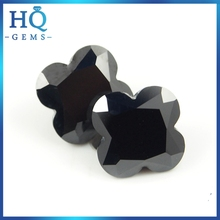 Brilliance Faceted Flower Shaped Black Signity CZ
