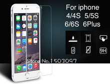 Free shipping 0.26 mm 2.5D HD Tempered Glass Screen Protector Protective Film for iPhone 5 5c 5s