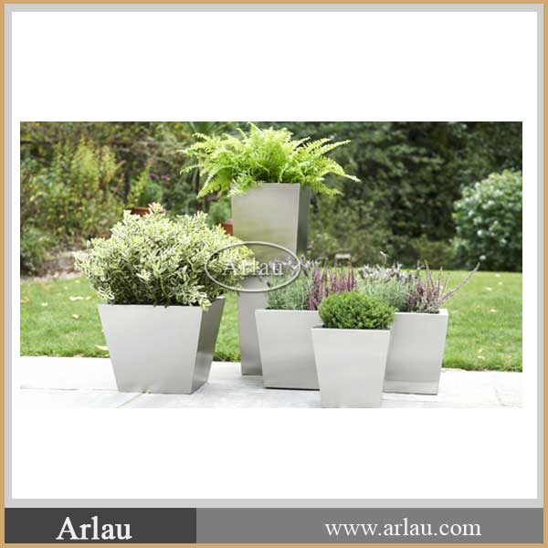 Trapezoidal Outdoor Stainless Steel Flower Pots For Sale Buy Stainless Stee