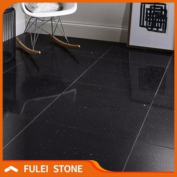 Best Quality Starlight Black Sparkle Quartz Stone Floor Tiles Price