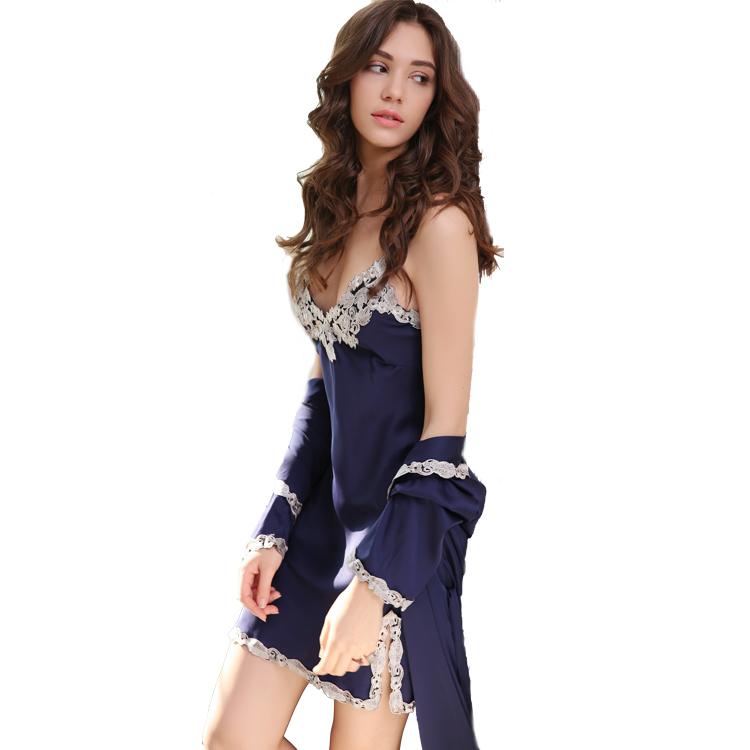 d36b79b50b7be Купить Атласа 100% Шелковые Ночные Рубашки оптом из Китая