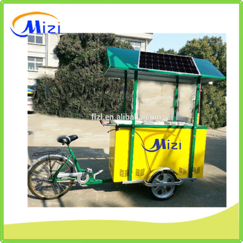 Ice Cream Tricycle Trike Bicycle Carts With Solar Dc
