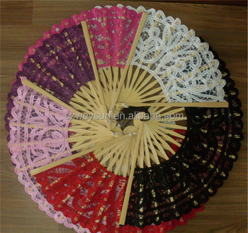 20cm Size White Black Red 3colors Battenburg Lace Fans Vintage Lace Hand Fans