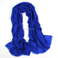 2017 New Design Custom Women Plain Solid Wool Scarf Shawl